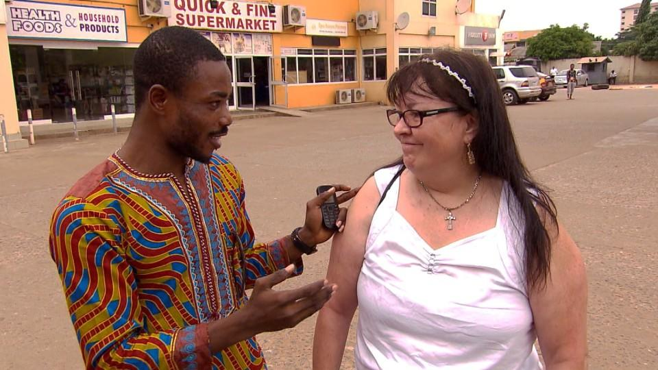 Ruf Mädchen in Ghana an