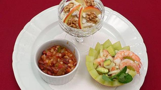 Rezept: New York Waldorfsalat, California Shrimpscocktail und Texas style Chili