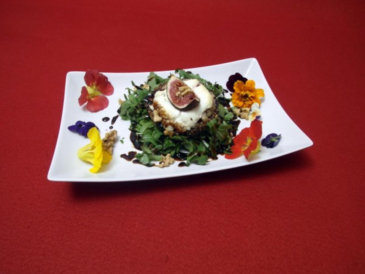 Das Perfekte Dinner Rezepte Ziegenkäse über Rucola An Feigen