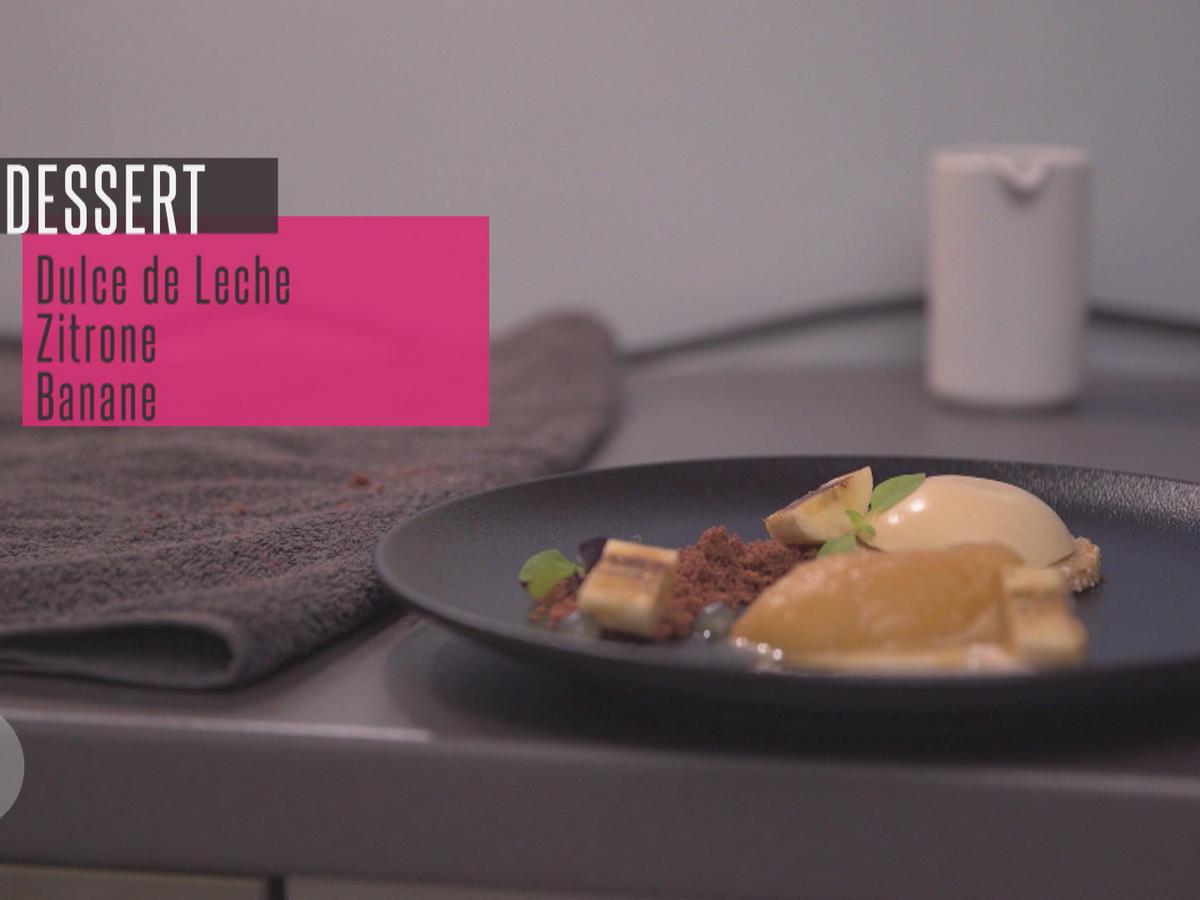 das perfekte dinner rezepte tarte von dulce di leche mit zitronengrassorbet und banane. Black Bedroom Furniture Sets. Home Design Ideas
