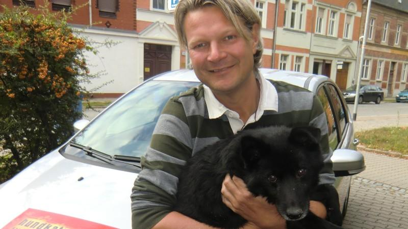 Hund Scotty mit Frank Weber