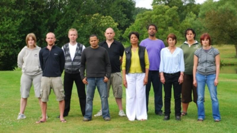 Von links: Holly, Stuart, Scott, Ravi, Dan, Donna, Kamili, Vicki, Yasmin, Alex