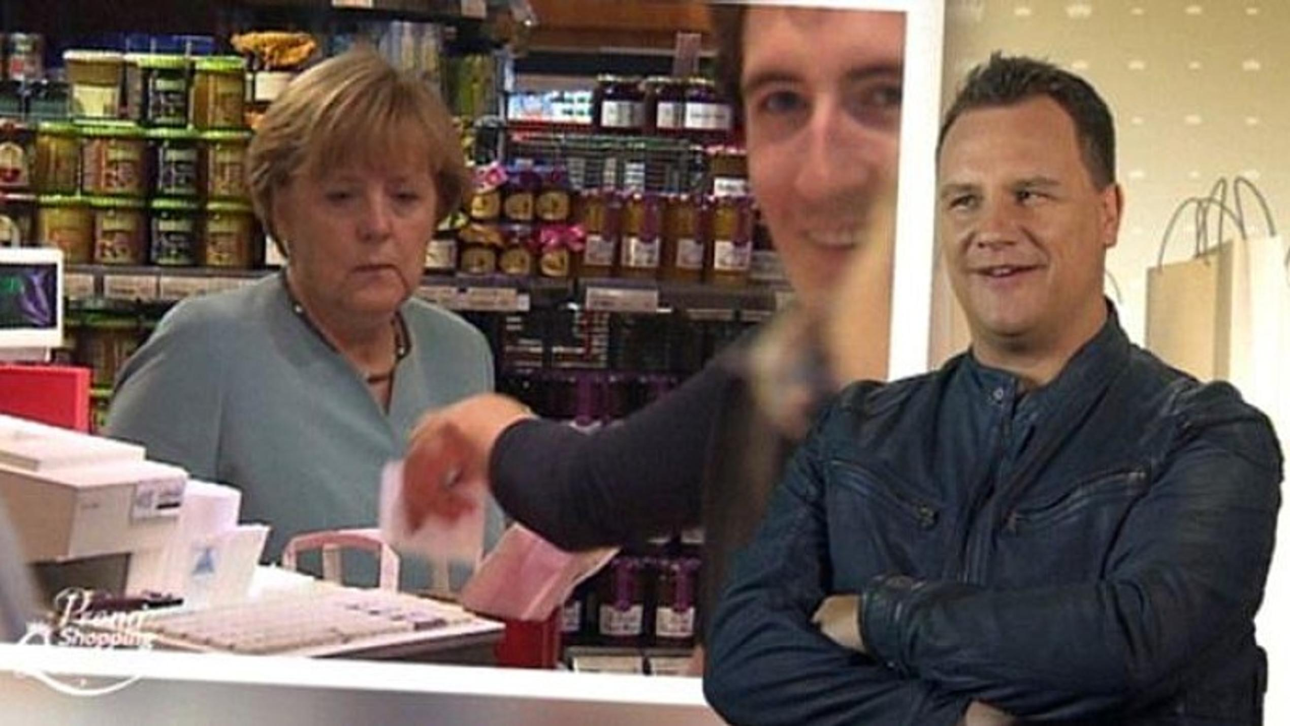 "Nanu, was macht Angela Merkel bei ""Promi Shopping Queen?"