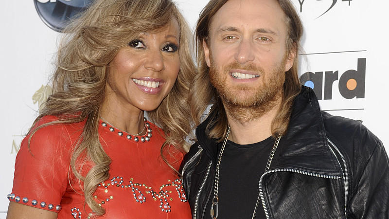 David Guetta and Cathy Guetta attend the 2013 Billboard Music Awards held at MGM Grand Garden Arena in Las Vegas, USA on May 19, 2013. Photo by APEGA/ABACAUSA.COM
