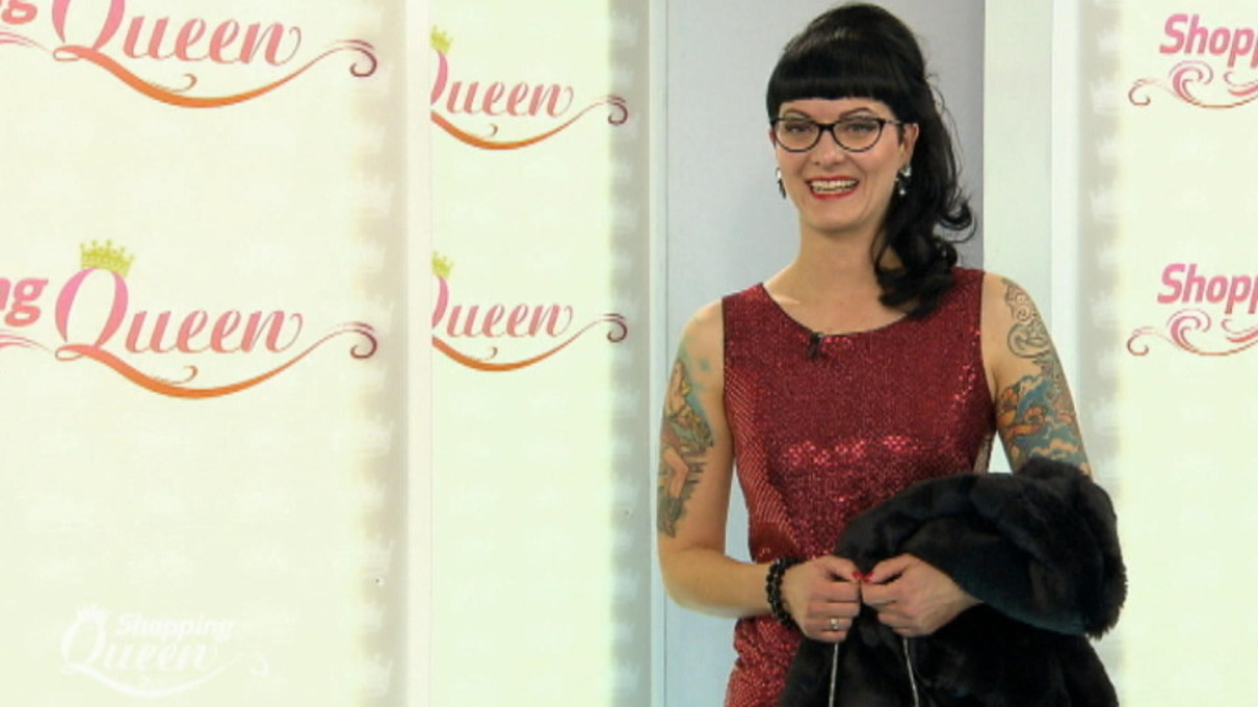 "Simone auf dem ""Shopping Queen""-Catwalk"