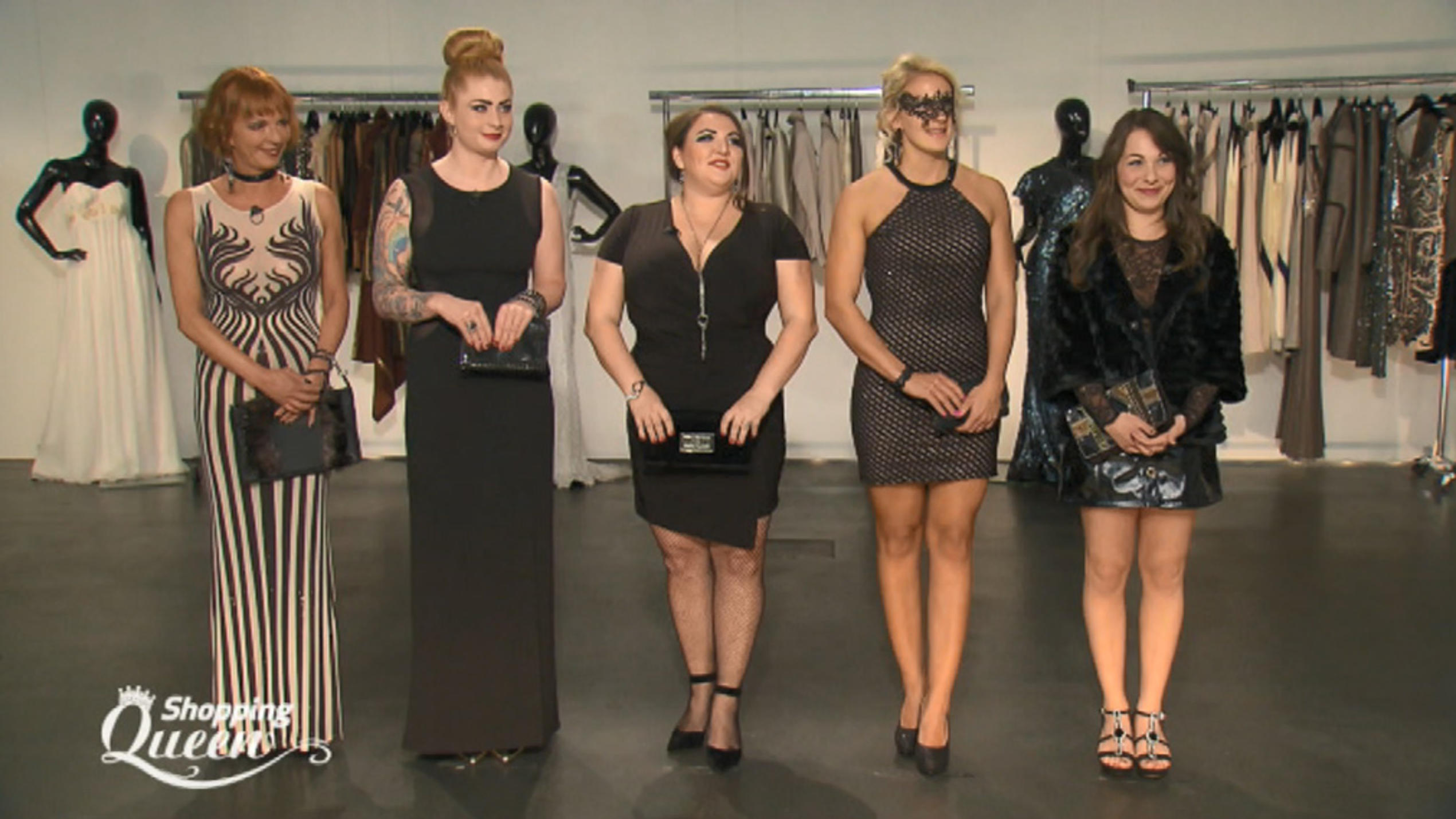 "Marina, Alicia, Viktoria, Jocy und Regina bei ""Shopping Queen""-Finale in Berlin"