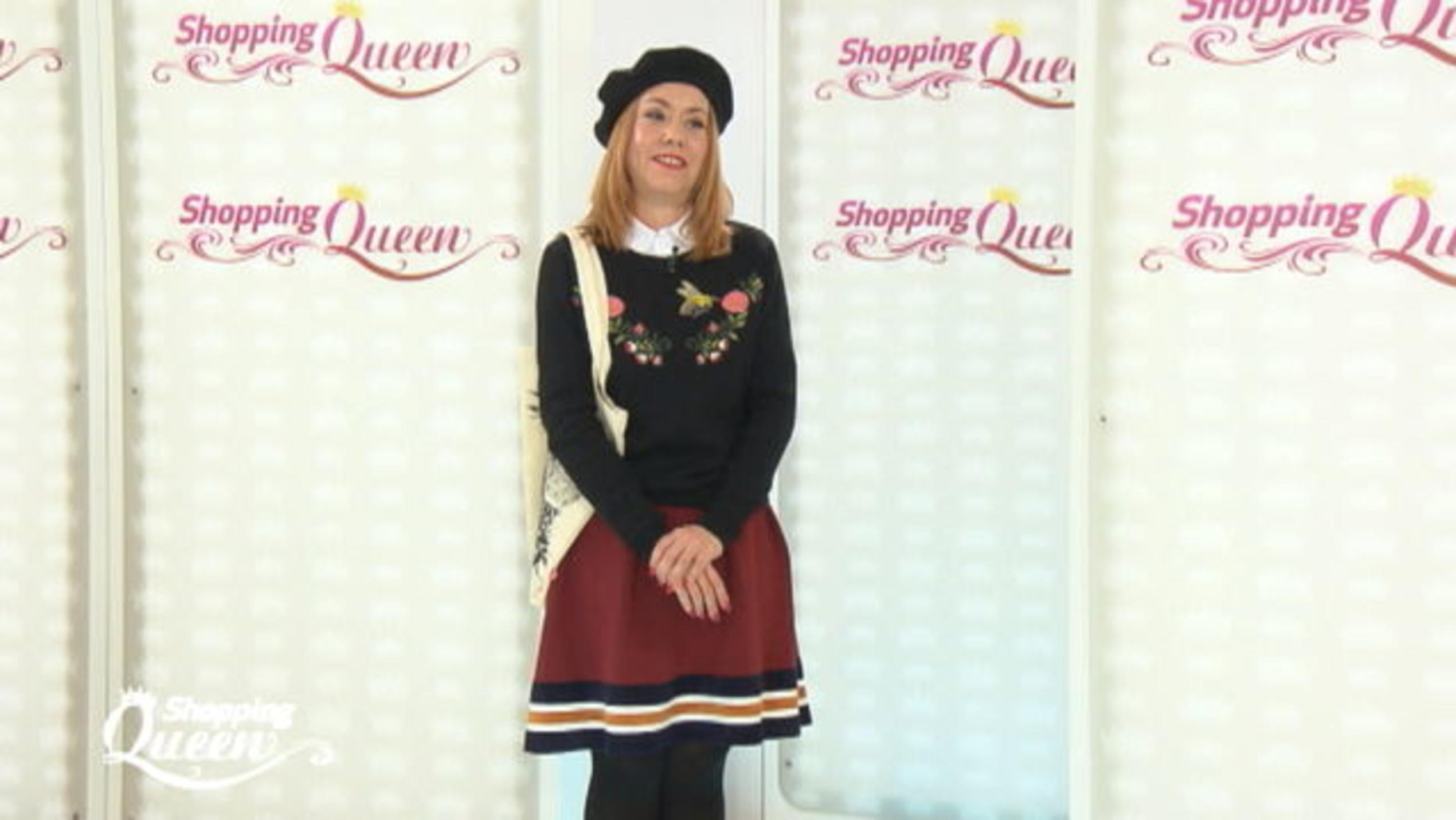 """Shopping Queen""-Kandidatin Leslie auf dem Catwalk."