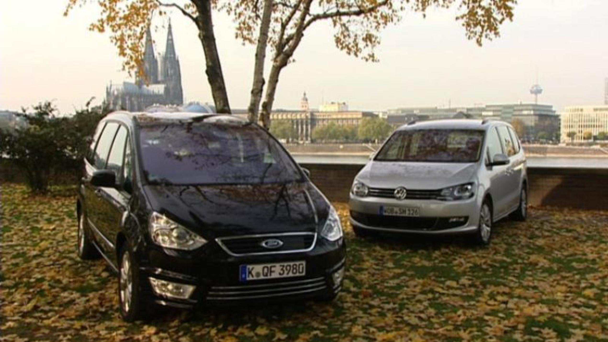 VW Sharan versus Ford Galaxy