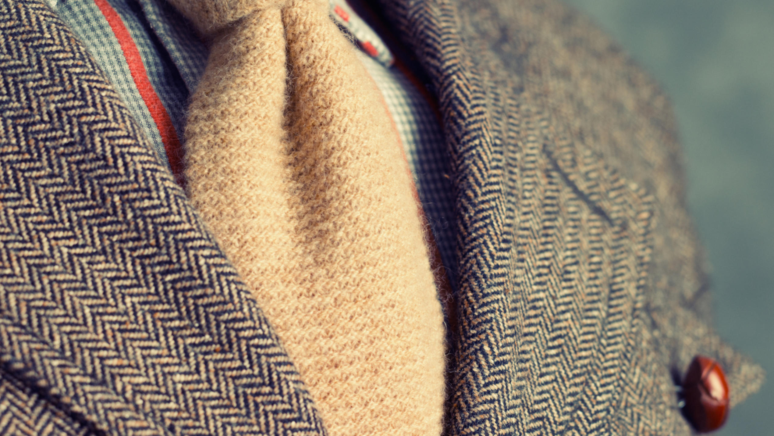 Retro-Tweed-Jacke in beige