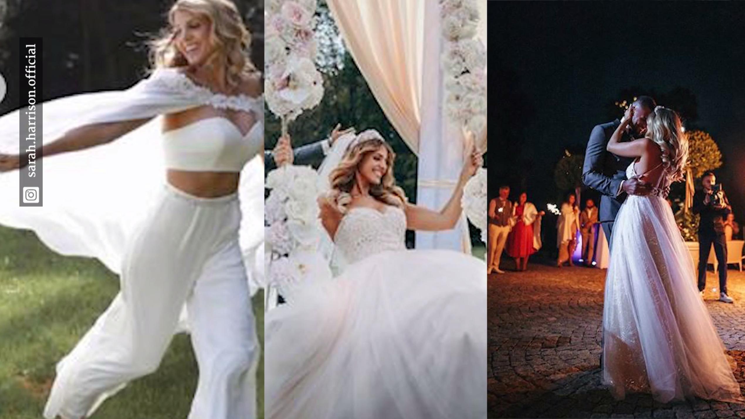 Das passiert mit Sarah Harrisons Hochzeitskleidern